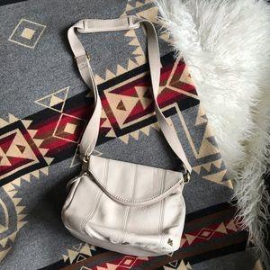 The Sak ivory leather crossbody bag purse